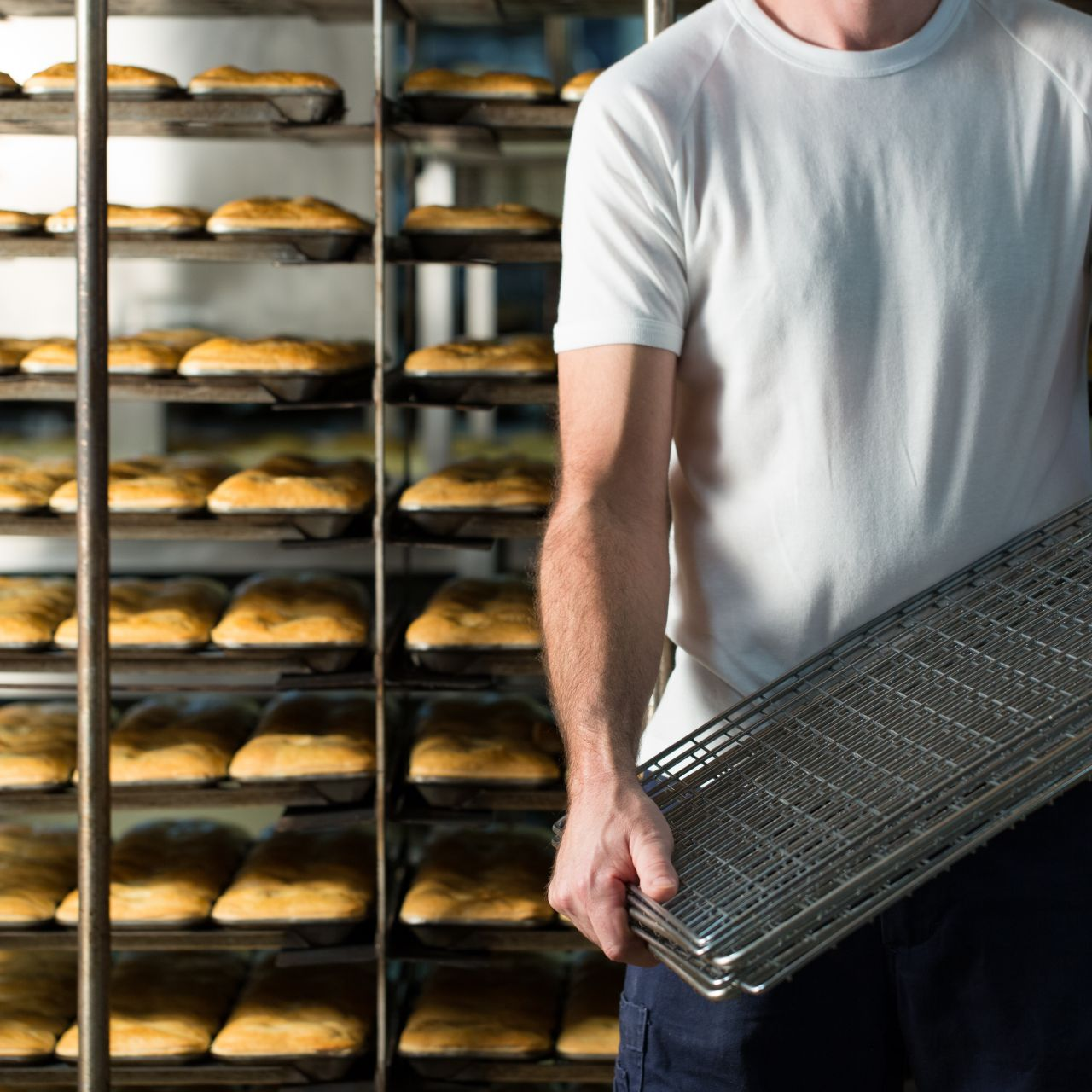 Baker holding racks